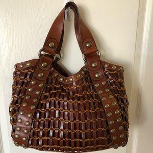 Leather Woven Kooba Handbag